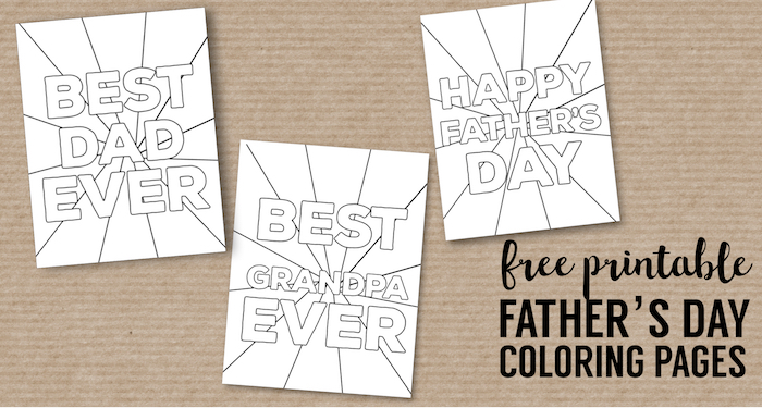 Happy Father S Day Coloring Pages Free Printables Paper Trail Design