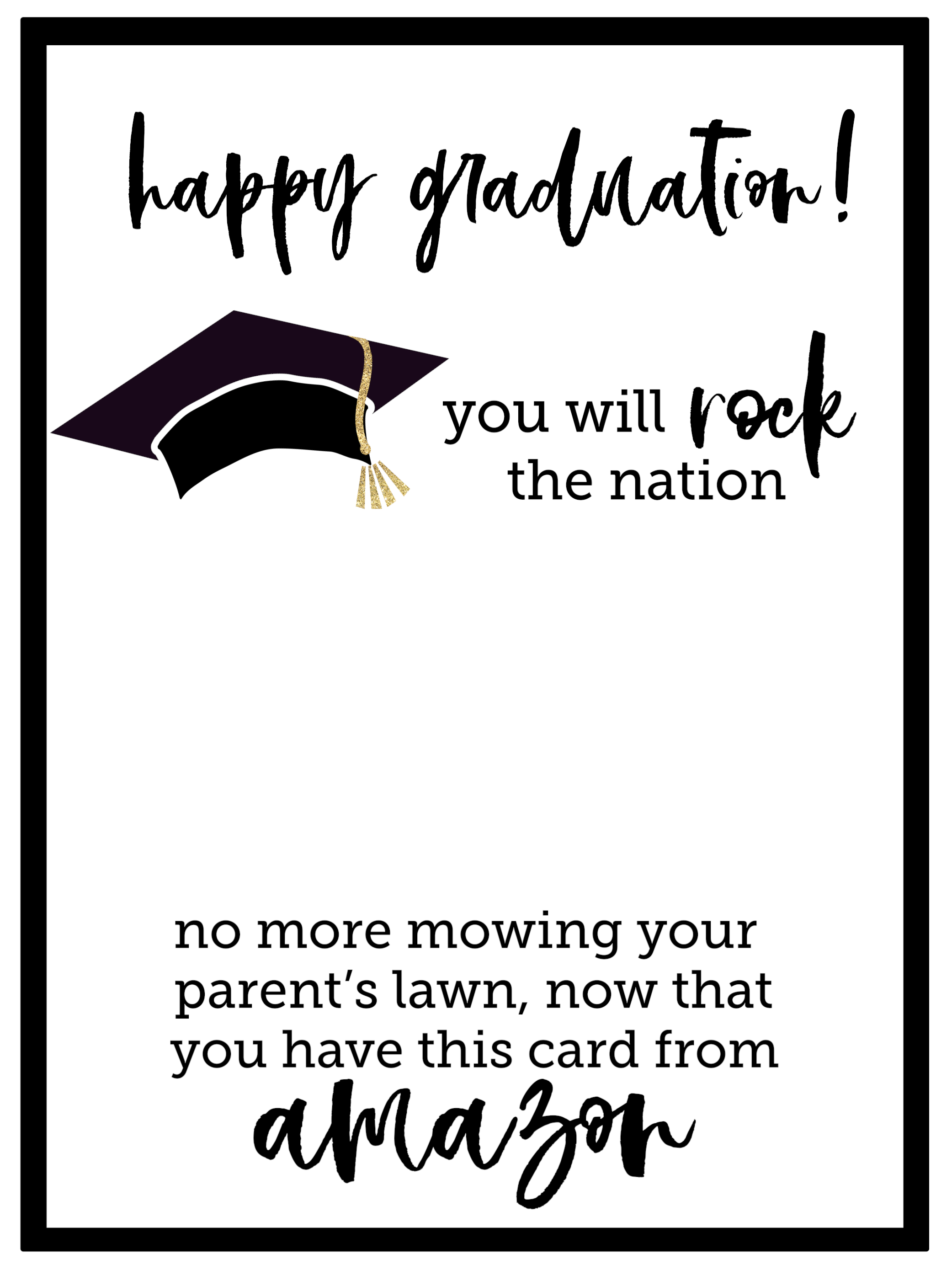 graphic relating to Printable Graduation Cards identify Absolutely free Printable Commencement Card - Paper Path Design and style