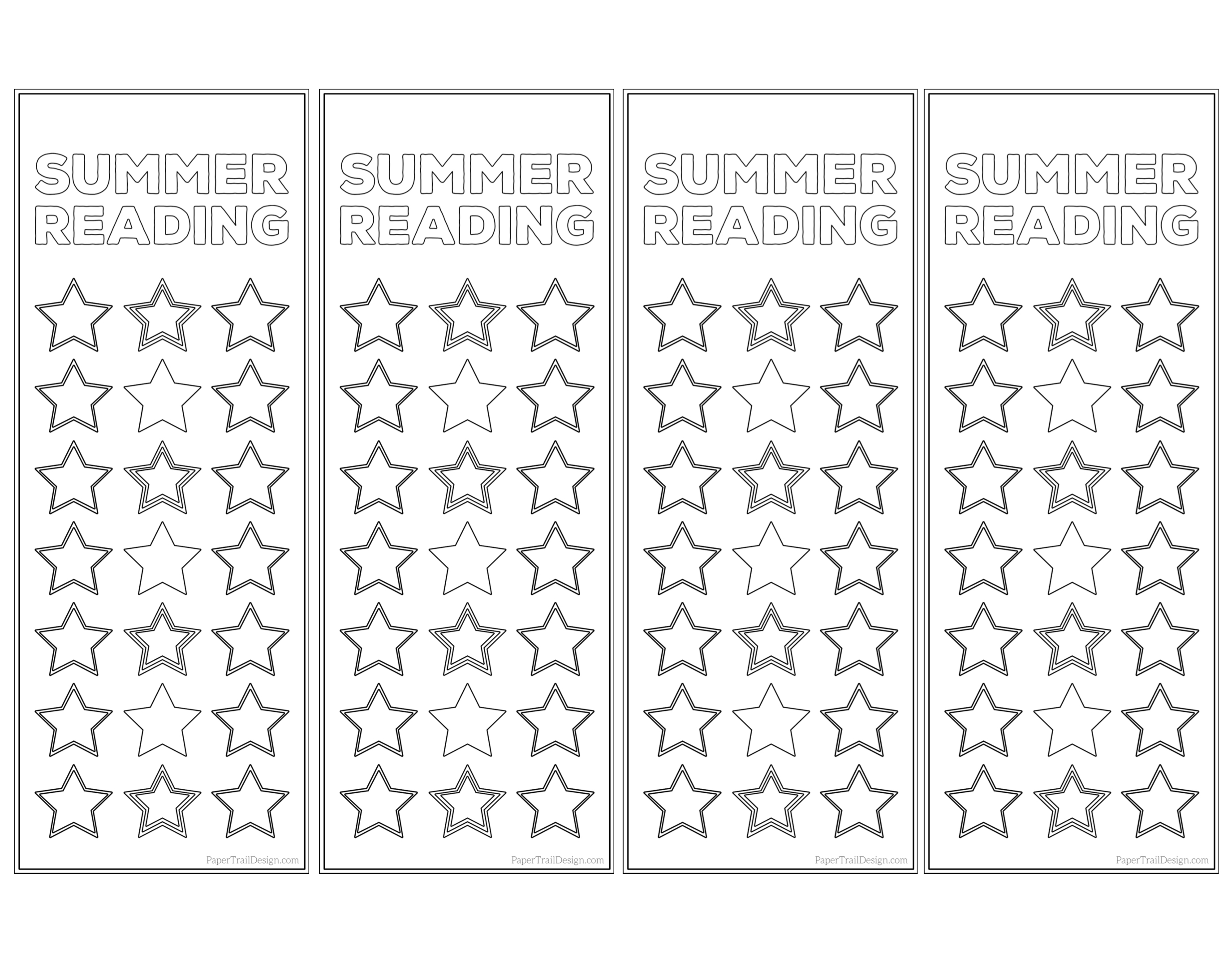 image about Free Printable Reading Log known as Summer time Looking through Log Bookmark Printable Tracker - Paper Path