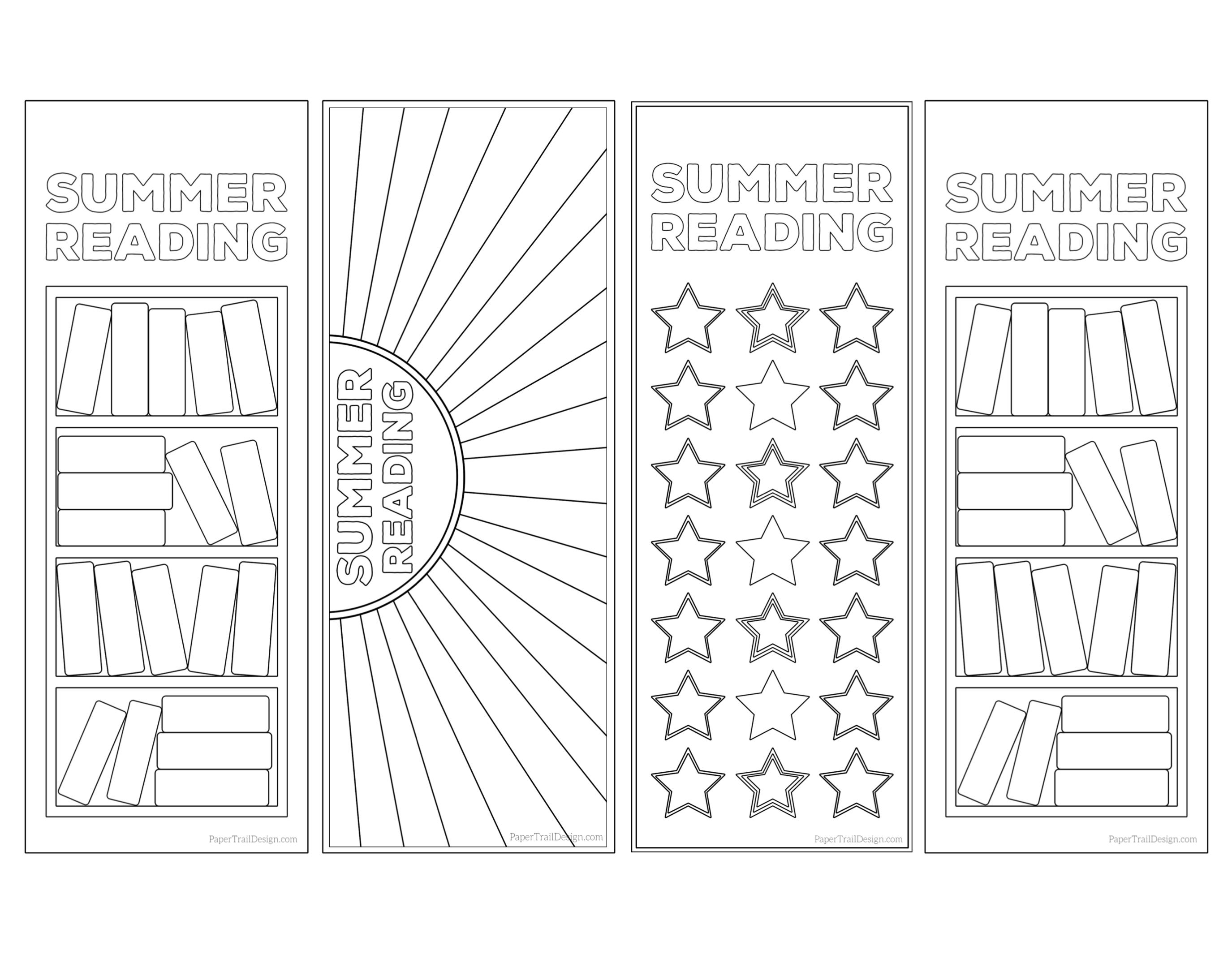 summer reading log bookmark printable tracker - paper trail design