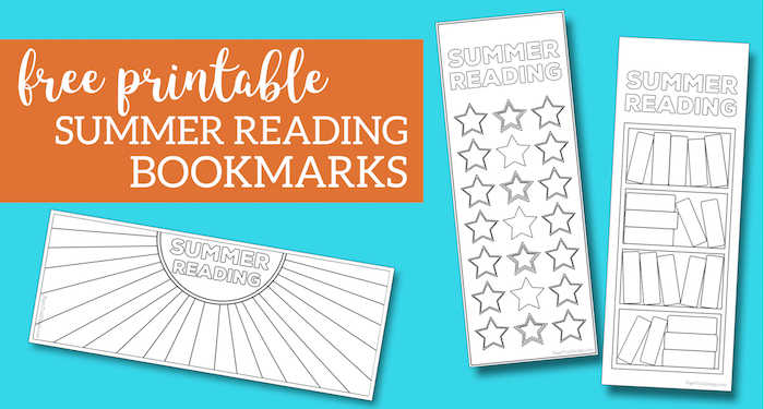 Summer Reading Log Bookmark Printable Tracker. Customize these reading log for kids, teens, toddlers, or adults. List books or simply color. #papertraildesign #summerreading #summerreadingbookmark #freeprintable