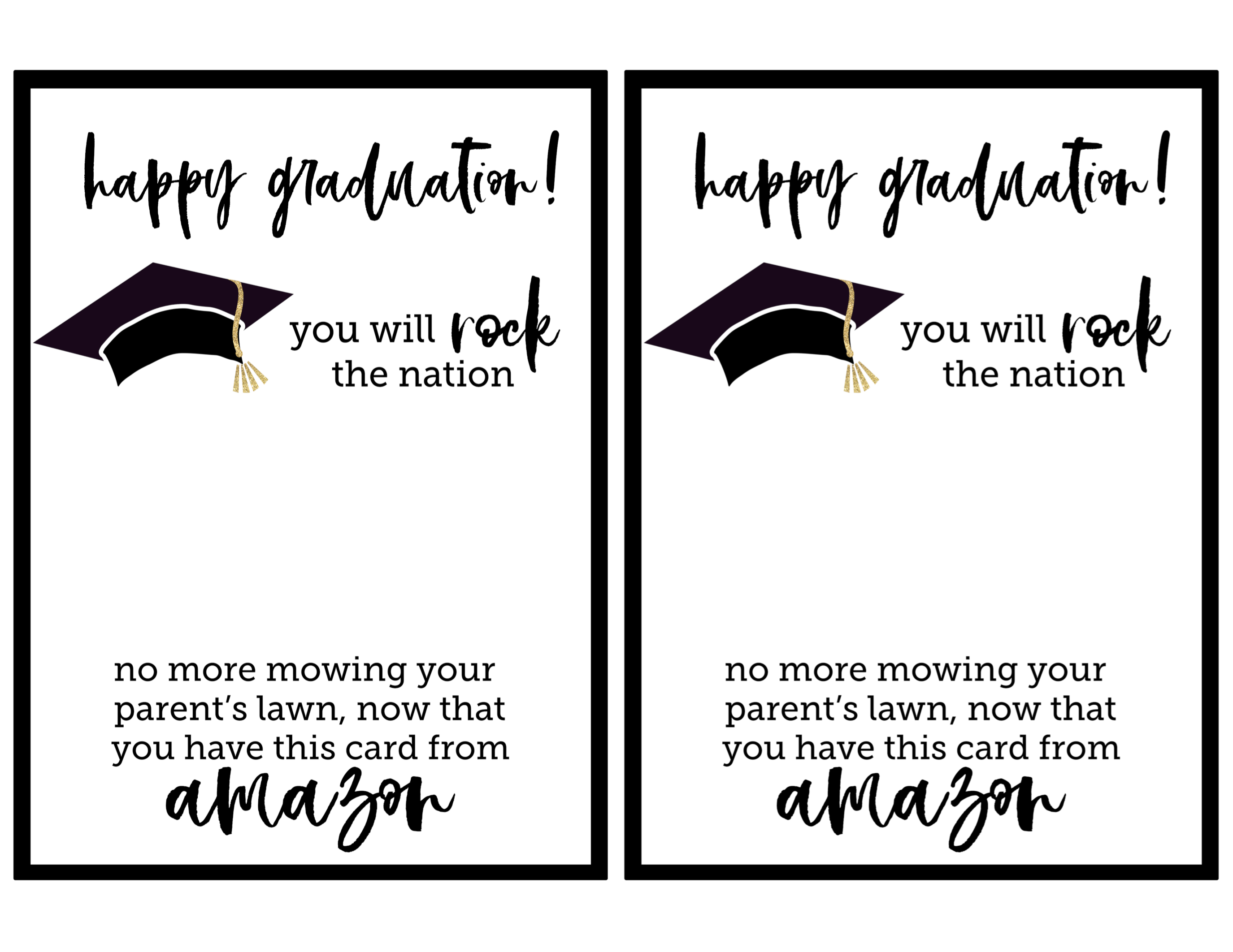 photo regarding Printable Grad Cards known as Absolutely free Printable Commencement Card - Paper Path Layout