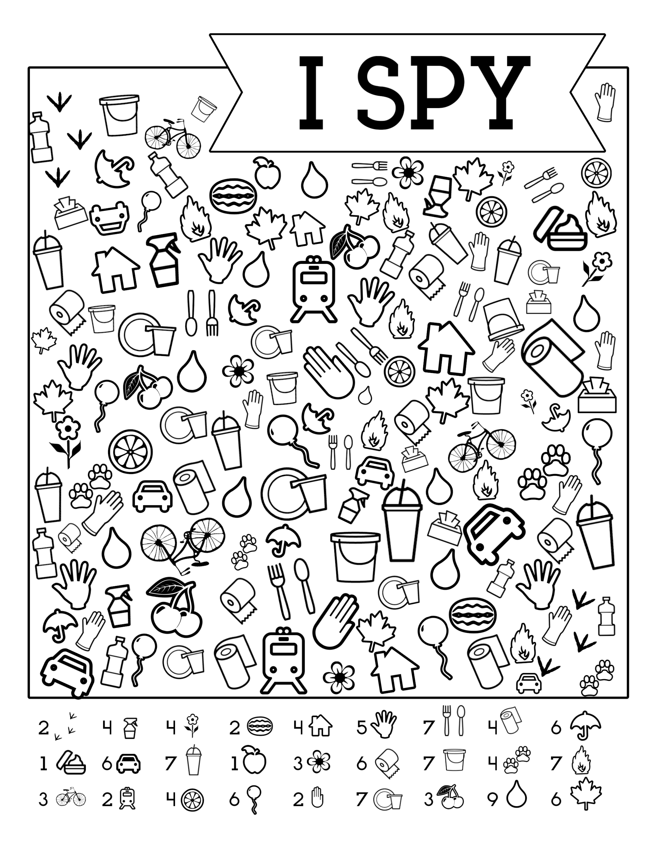 picture relating to I Spy Printable named Free of charge Printable Street Holiday vacation Online games For Young children I Spy - Paper