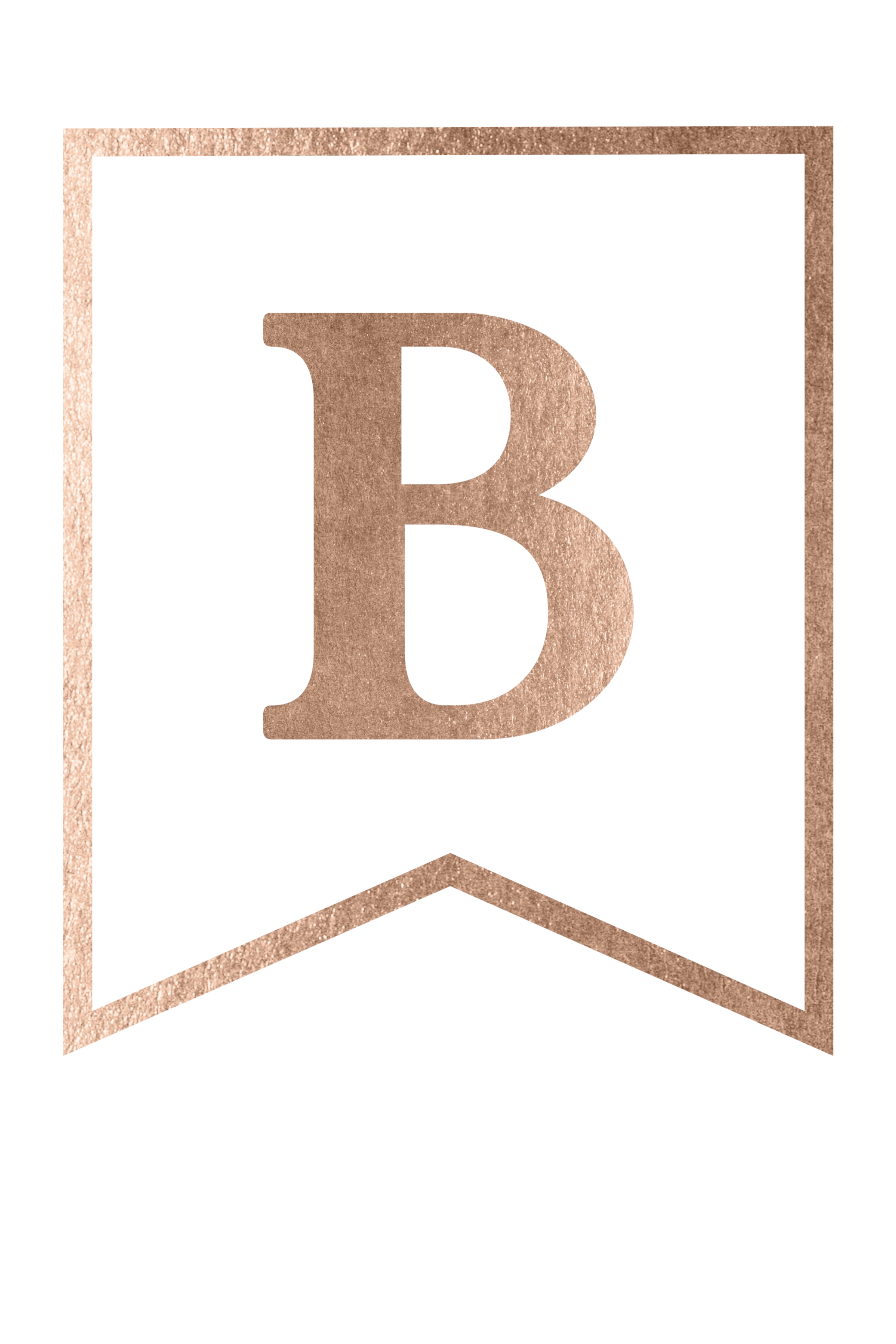 Free Printable Rose Gold Banner Letters