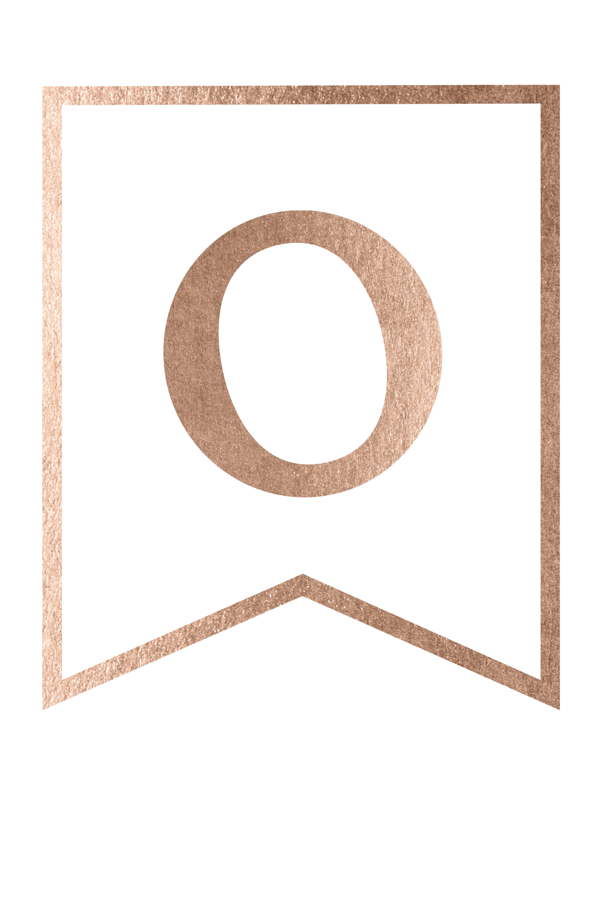 image relating to Printable O named Totally free Printable Rose Gold Banner Template - Paper Path Design and style