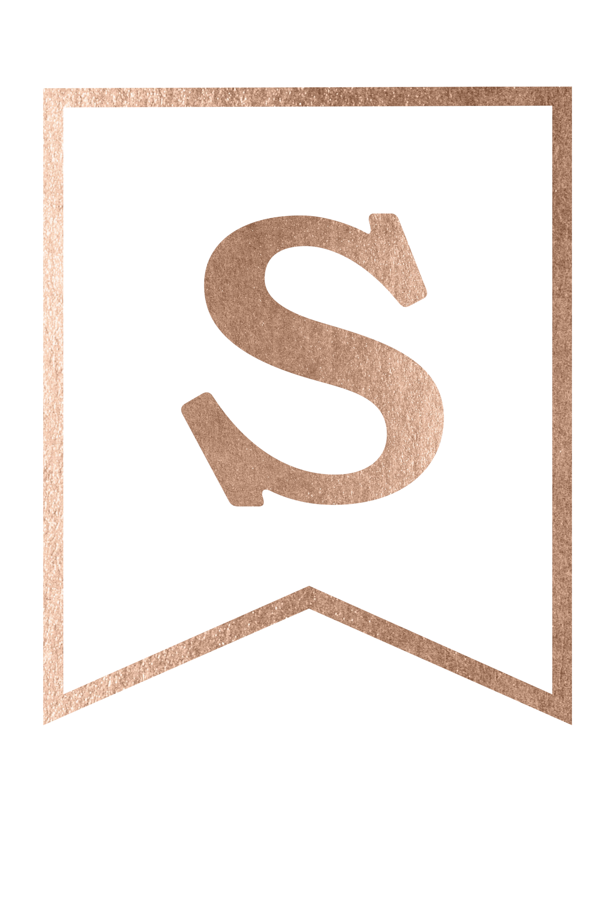 rose gold banner template free printable s