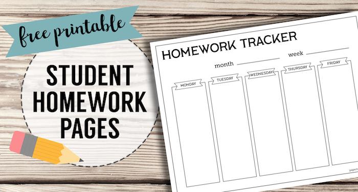 Homework List Template from www.papertraildesign.com