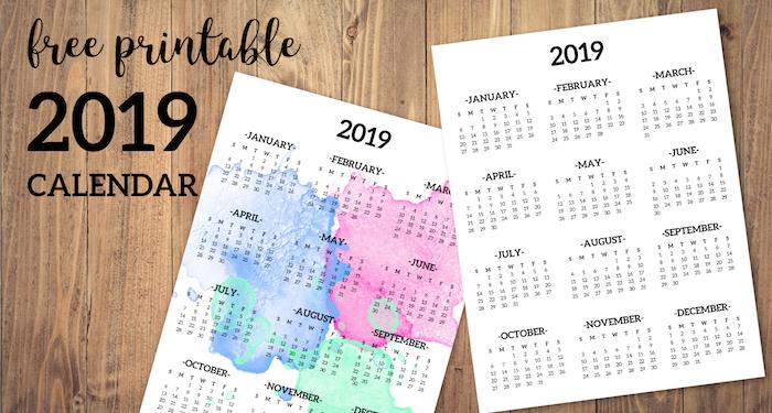 Calendar Design One Page : Calendar printable one page paper trail design
