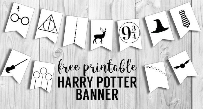 Harry Potter Banner Free Printable Decor Paper Trail Design