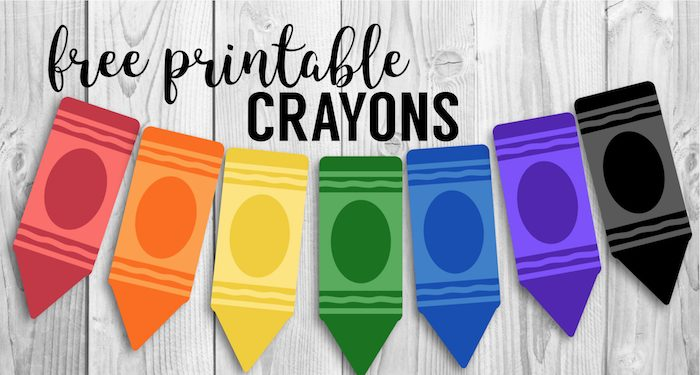 Free Printable Back to School Banner Crayons. Crayons for bulletin board decorations or a crayon banner for a birthday party.. #papertraildesign #backtoschool #classroom #classroomdecor