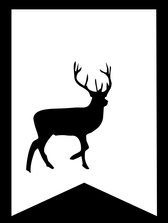 Stag Harry Potter Banner Flag