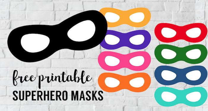 Incredibles Free Printable Superhero Masks. DIY Superhero party masks in every color. Superhero incredibles mask for an incredibles costume. #papertraildesign #incredibles #superhero #superheroparty #incrediblescostume