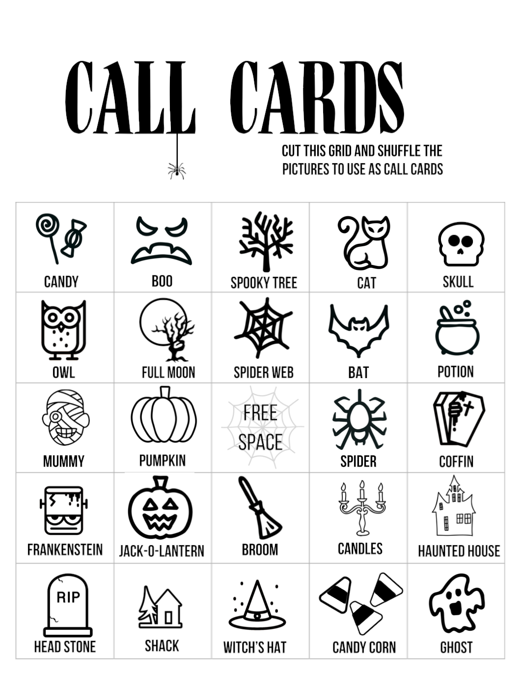 Invaluable image with halloween printable games