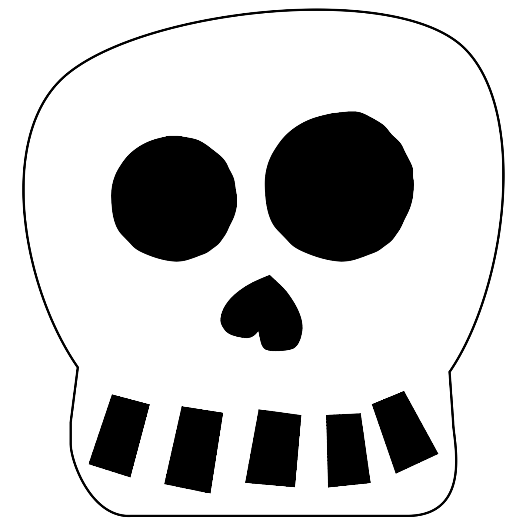 Free Printable Halloween Skull Decoration Banner - Paper ...