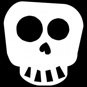 Free Printable Halloween Skull Decoration Banner. Halloween or Day of the Dead banner printable template decor. Cute skeleton banner. #papertraildesign #skulls #halloween #halloweendecor