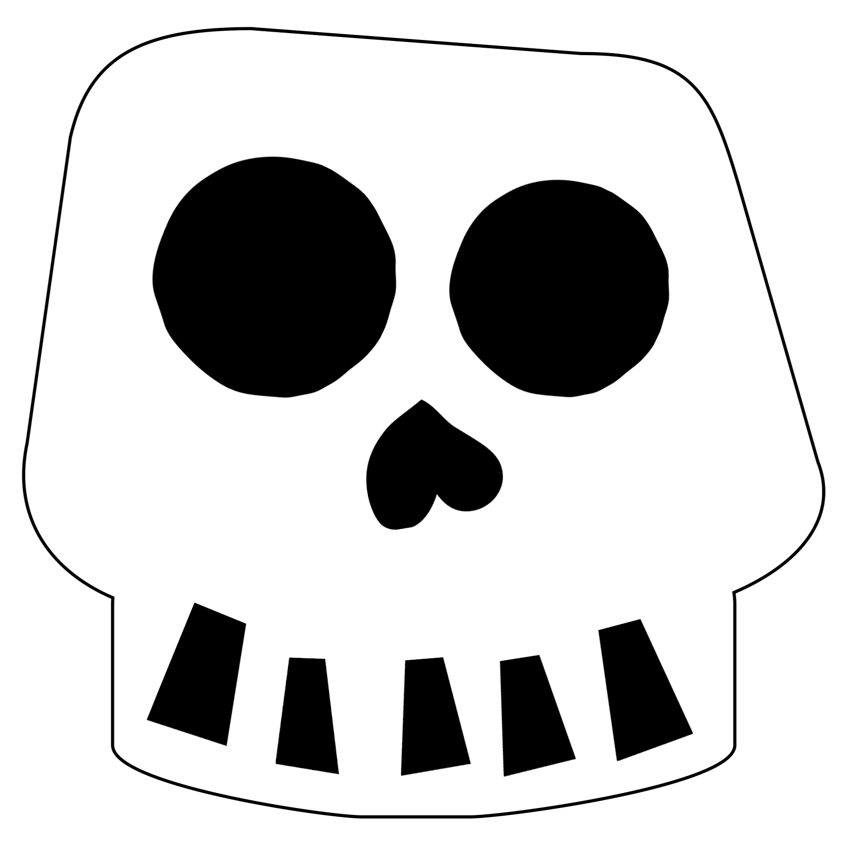 Free Printable Halloween Skull Decoration Banner Or Day Of The Dead Template