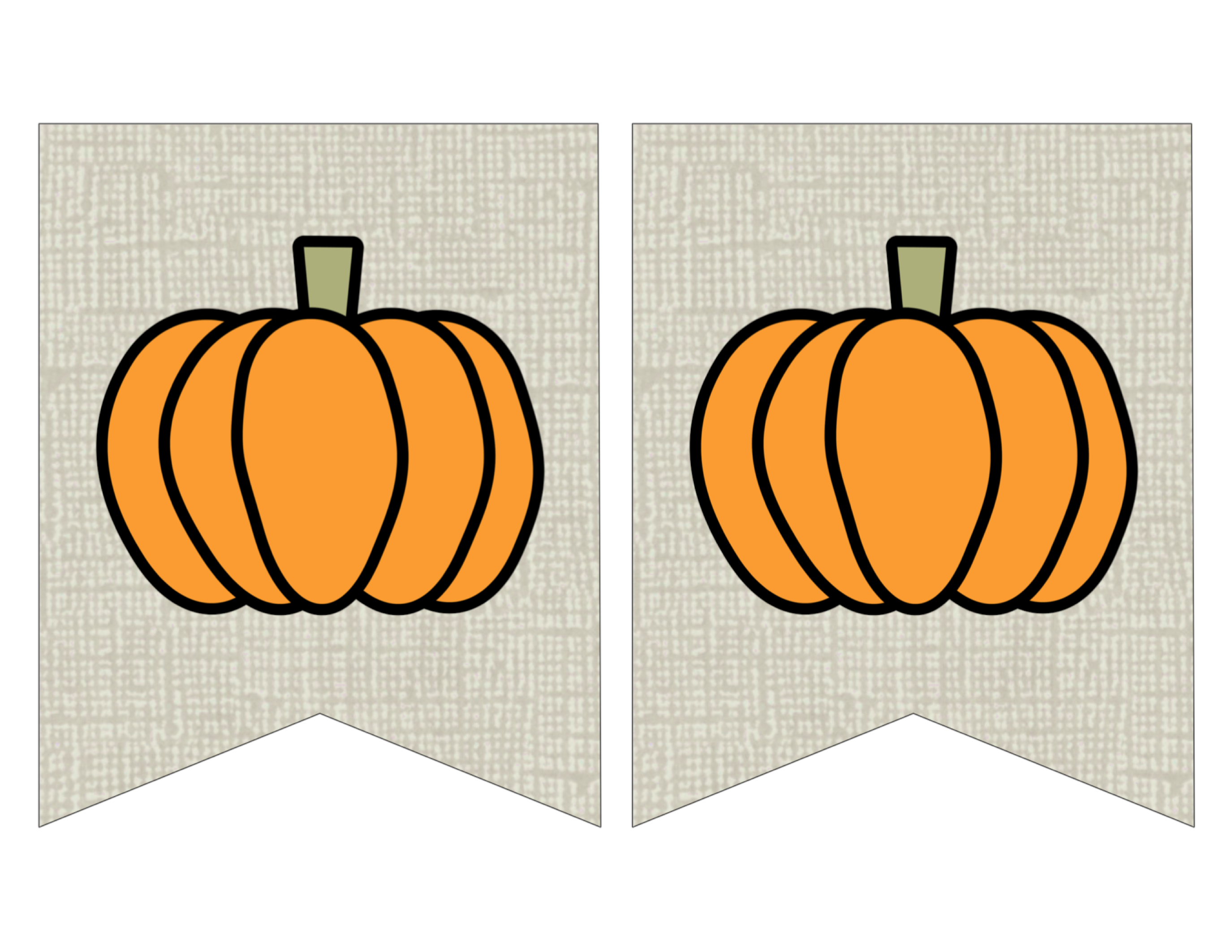 graphic about Fall Banner Printable named Totally free Printable Pumpkin Banner Decor - Paper Path Style