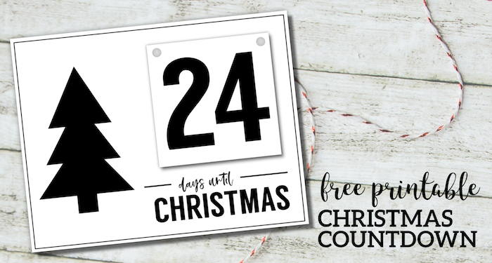 Christmas Countdown Printable 2020 Free Printable Days Until Christmas Countdown | Paper Trail Design