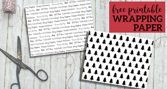 free printable christmas wrapping paper paper trail design