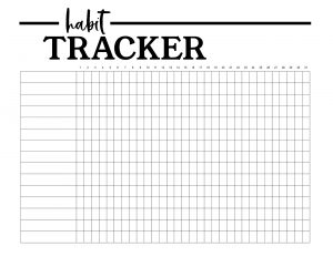 Habit Tracker Printable Planner Template. Monthly habit tracker sheet printable so you can keep track of your daily goals. #papertraildesign #bulletjournal #planner #freeprintables #organization