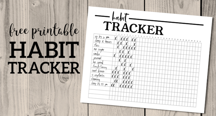 Habit Tracker Printable Planner Template Paper Trail Design