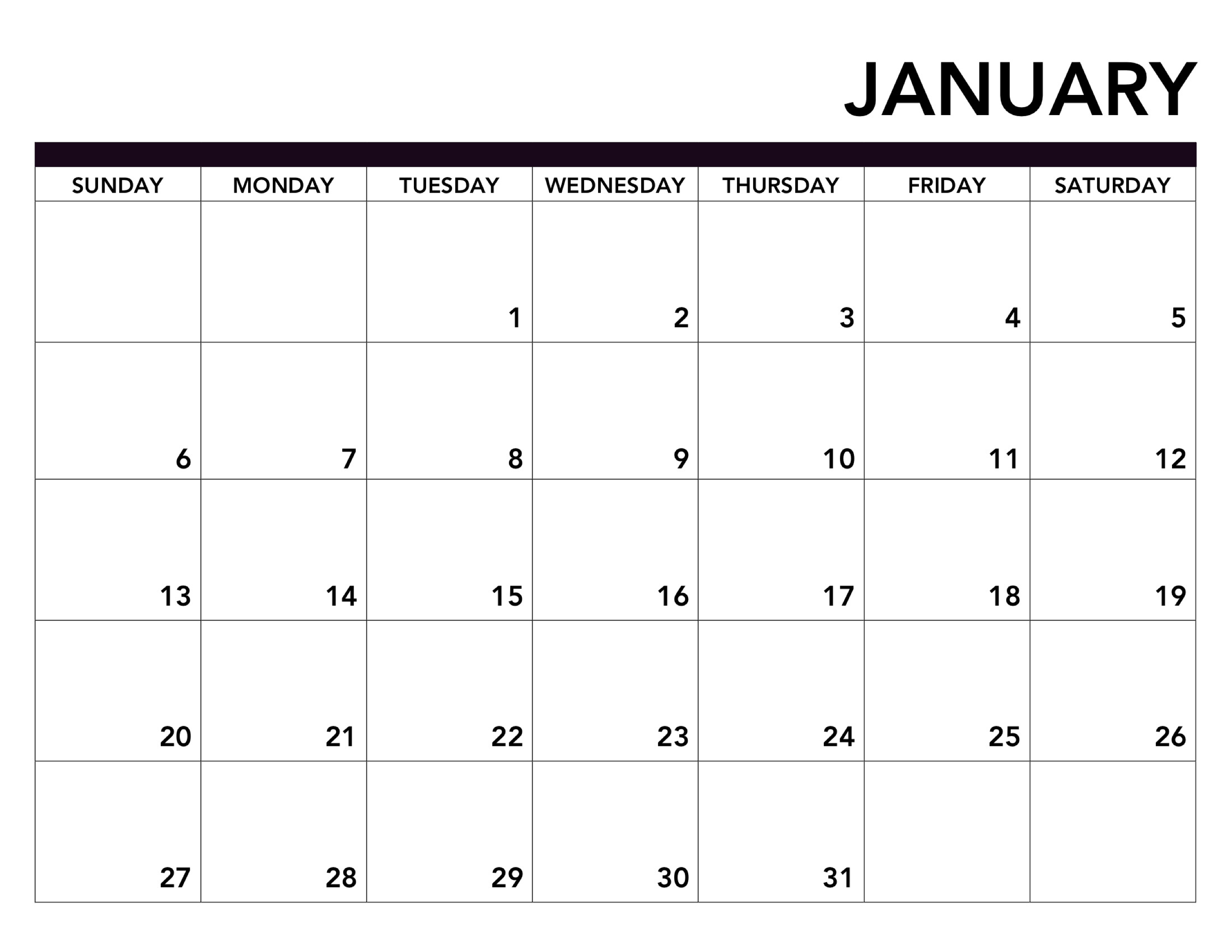 2019 Printable Calendar Free Pages Paper Trail Design