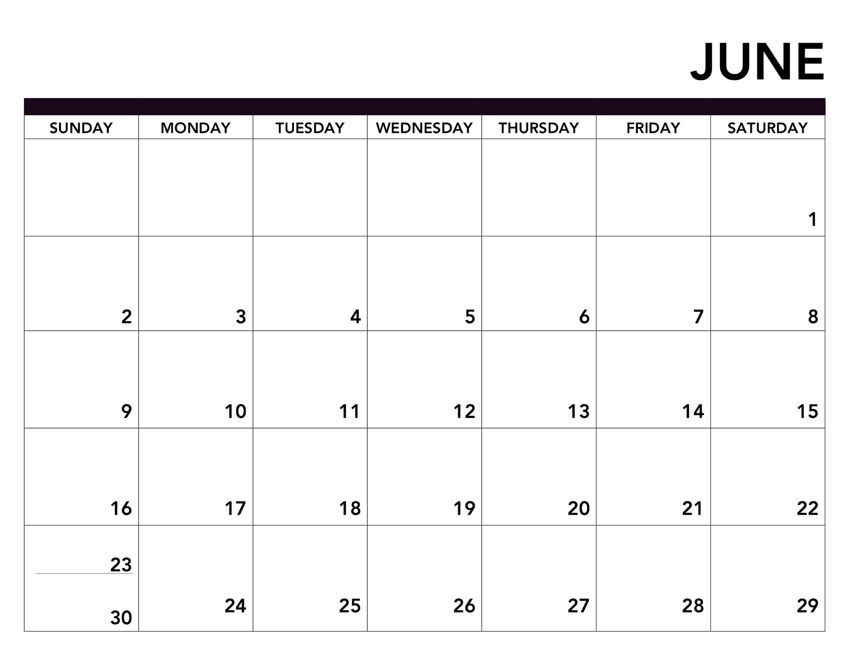photo regarding June Printable Calendar known as 2019 Printable Calendar Totally free Webpages - Paper Path Design and style