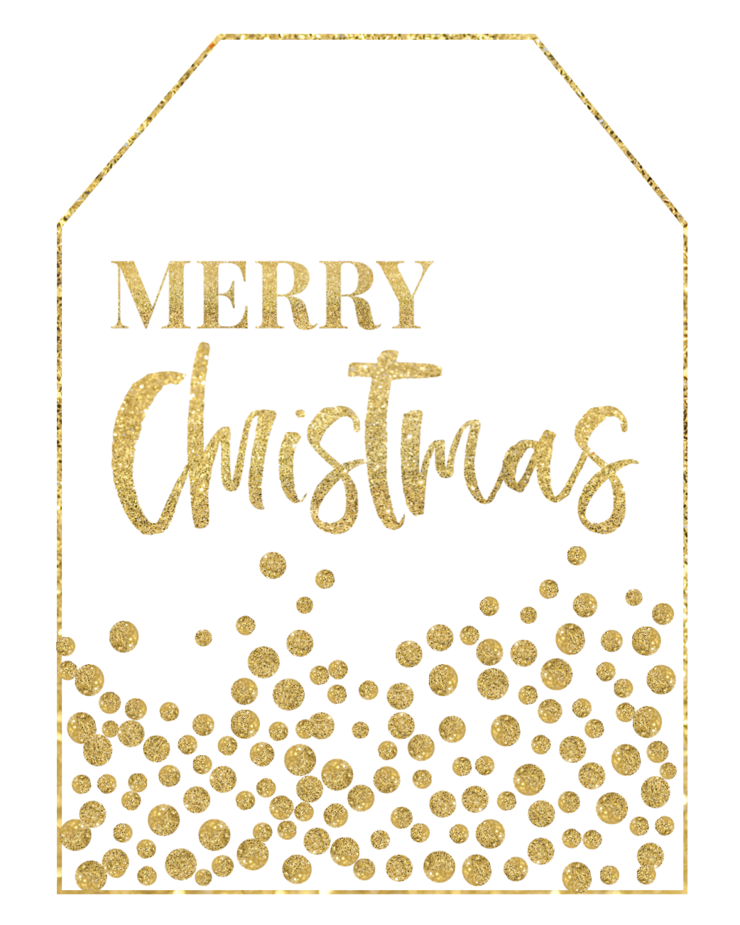 Gold Free Printable Christmas To From Tags - Paper Trail ...