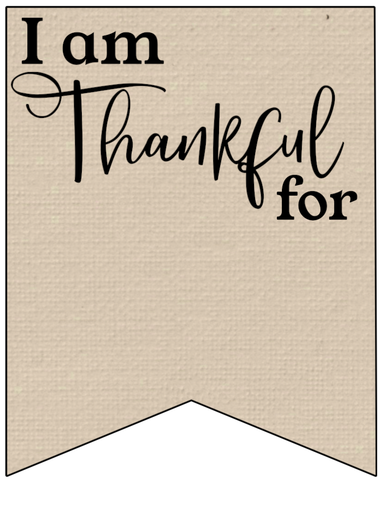 I Am Thankful Banner Sign Brown