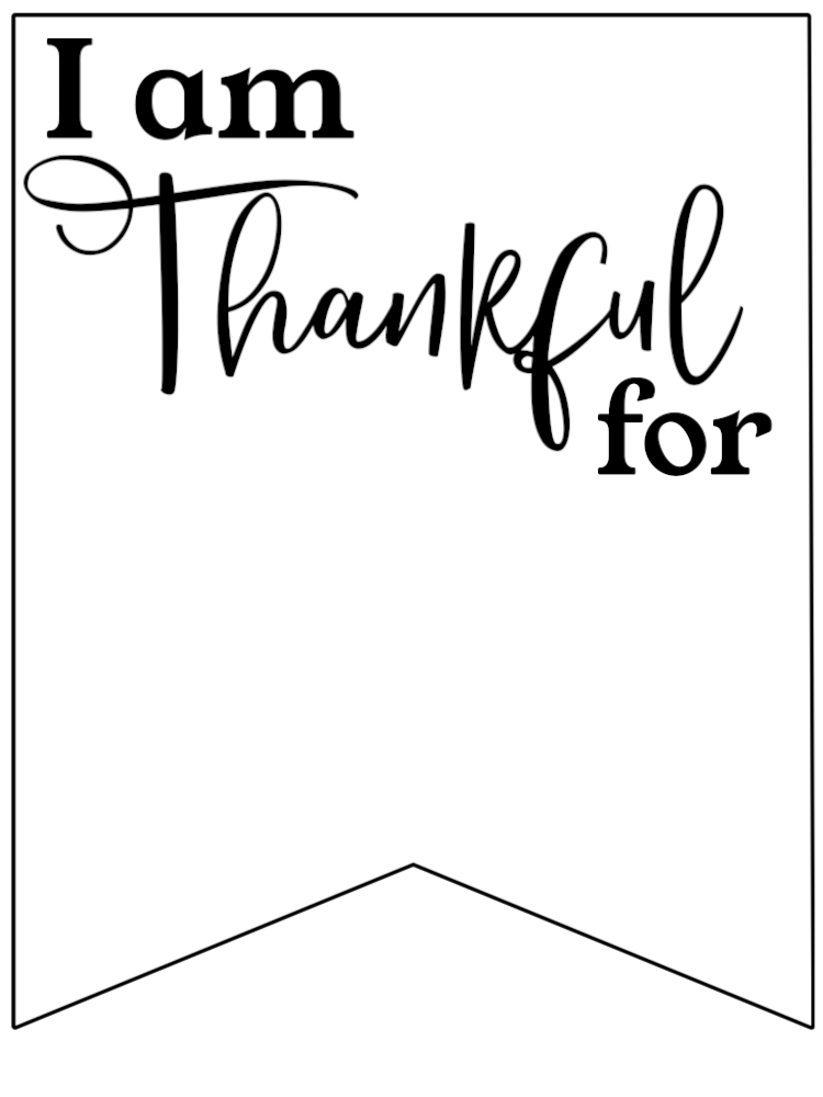 image about I Am Thankful for Printable identified as I am Grateful for Printable Banner - Paper Path Layout