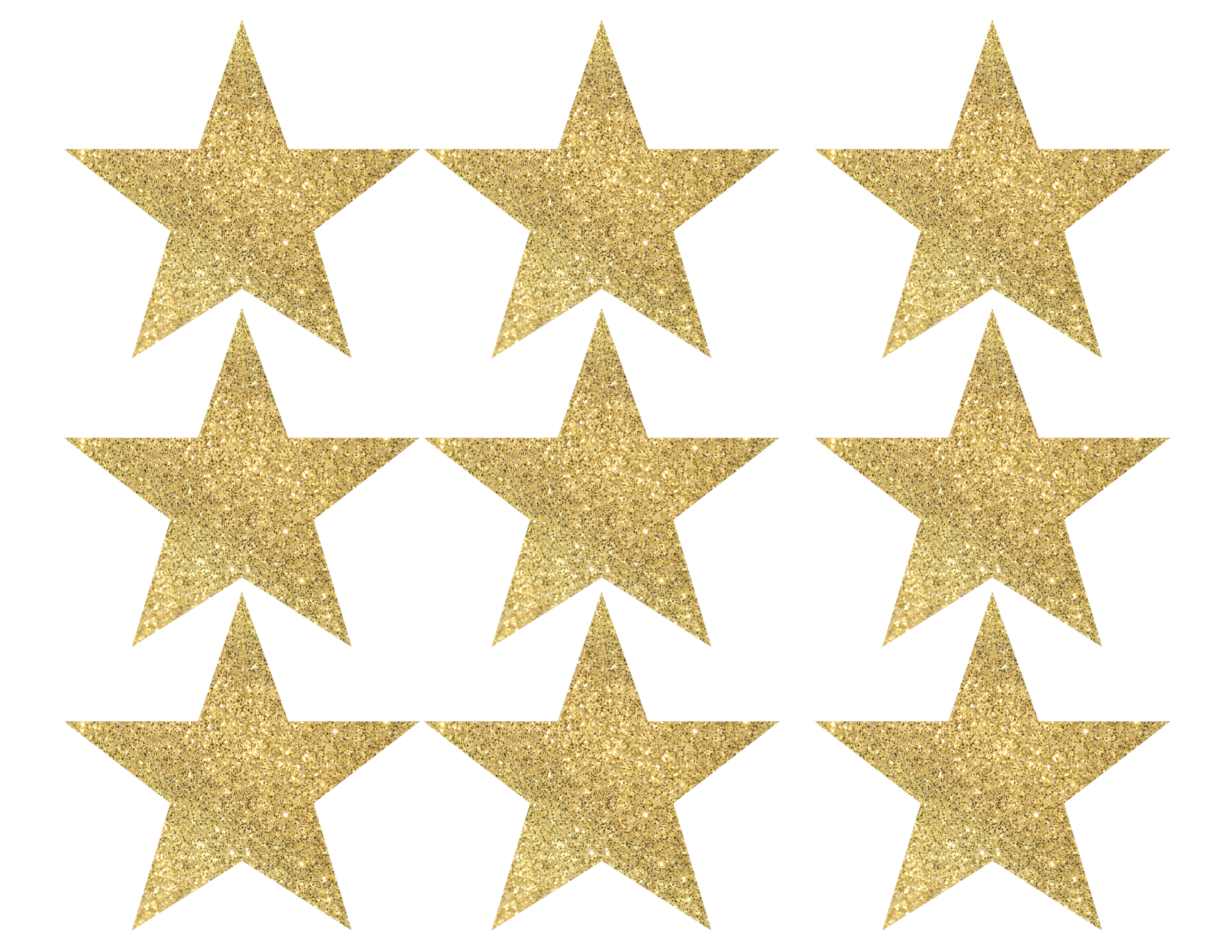 image relating to Star Printable named Gold Star Banner Xmas Garland Printable - Paper Path
