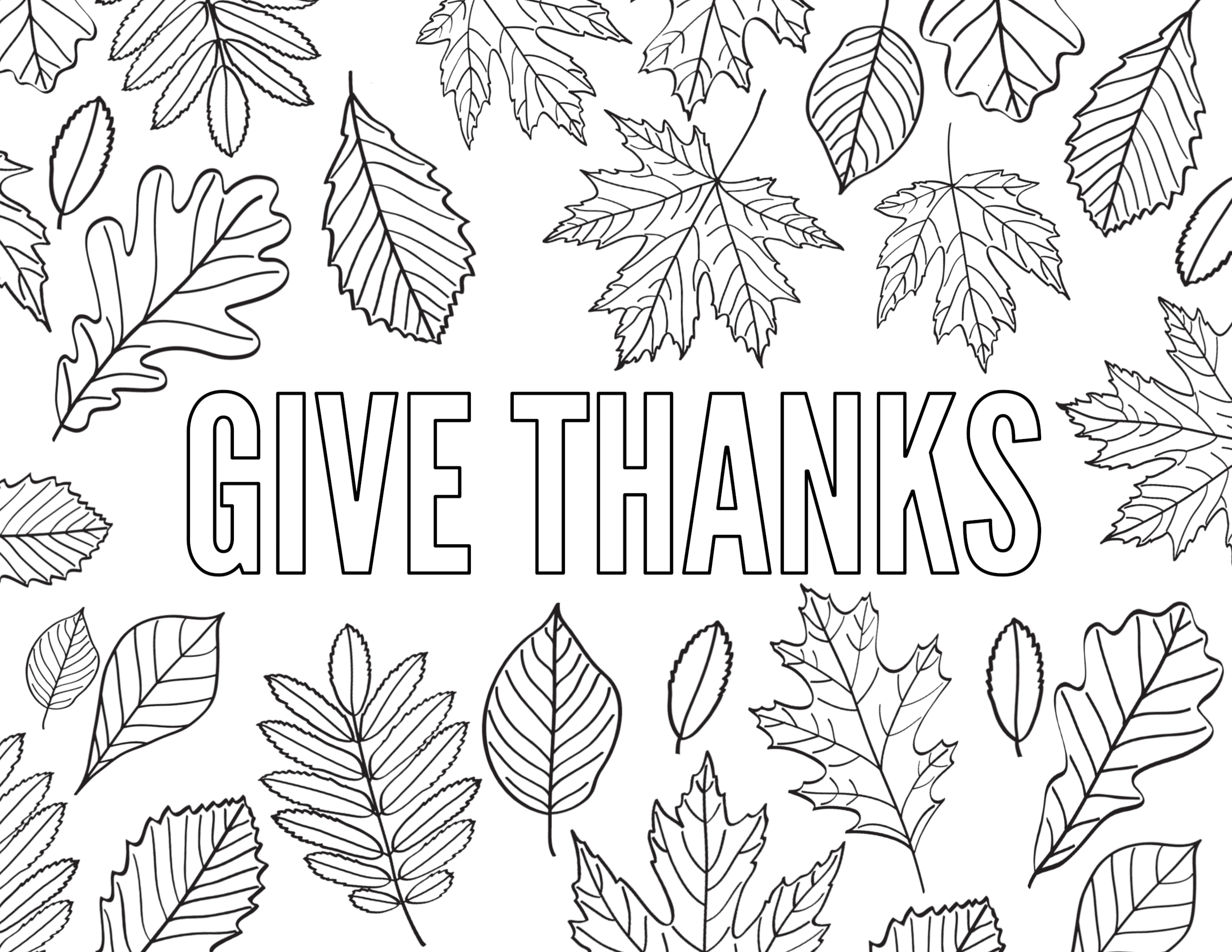 Printable Happy Thanksgiving Banner Coloring Page | 2125x2750