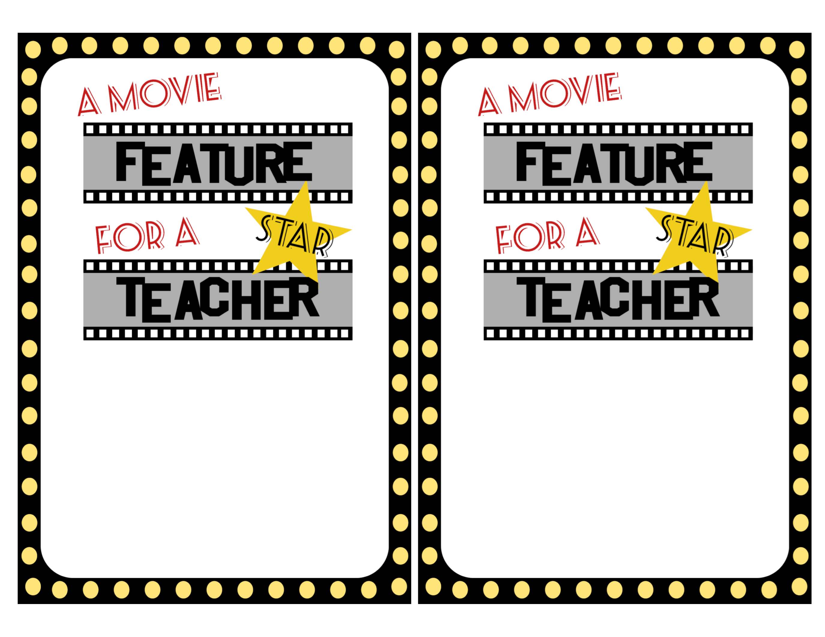 image relating to Printable Redbox Gift Cards identified as Basic Instructor Presents Online video Free of charge Printable - Paper Path Layout