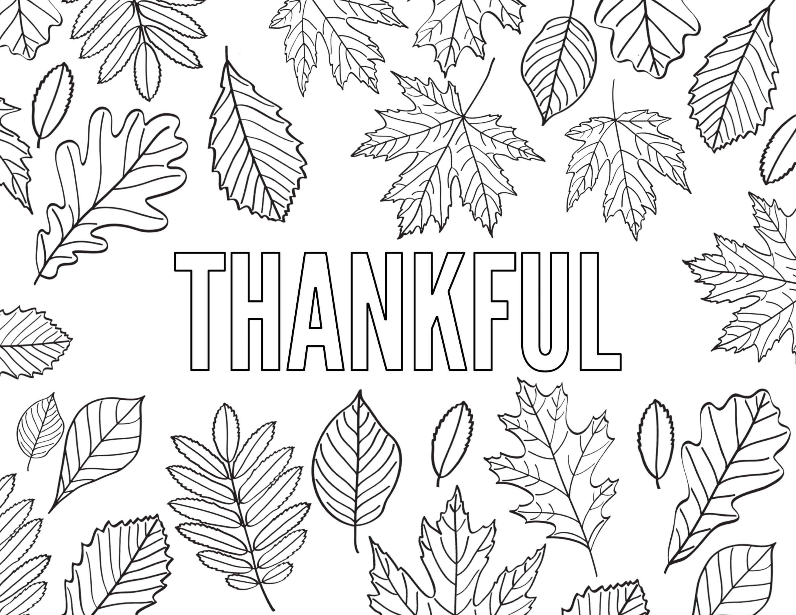 Thanksgiving Coloring Pages {Free Printable} - Paper Trail ...