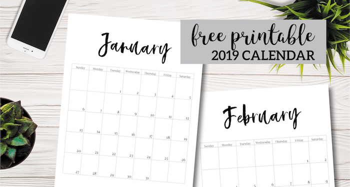 Blank Calendar February 2018 : Free printable calendar template pages paper trail
