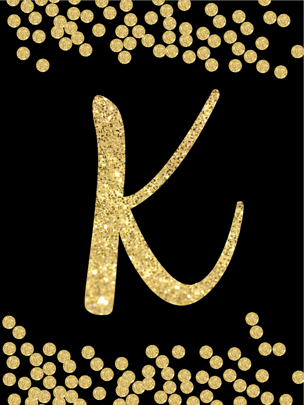 new year decoration banner letter k