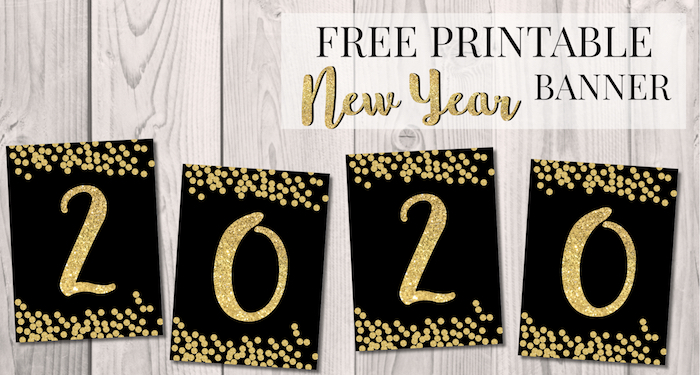 Gargantuan image for happy new year banner printable