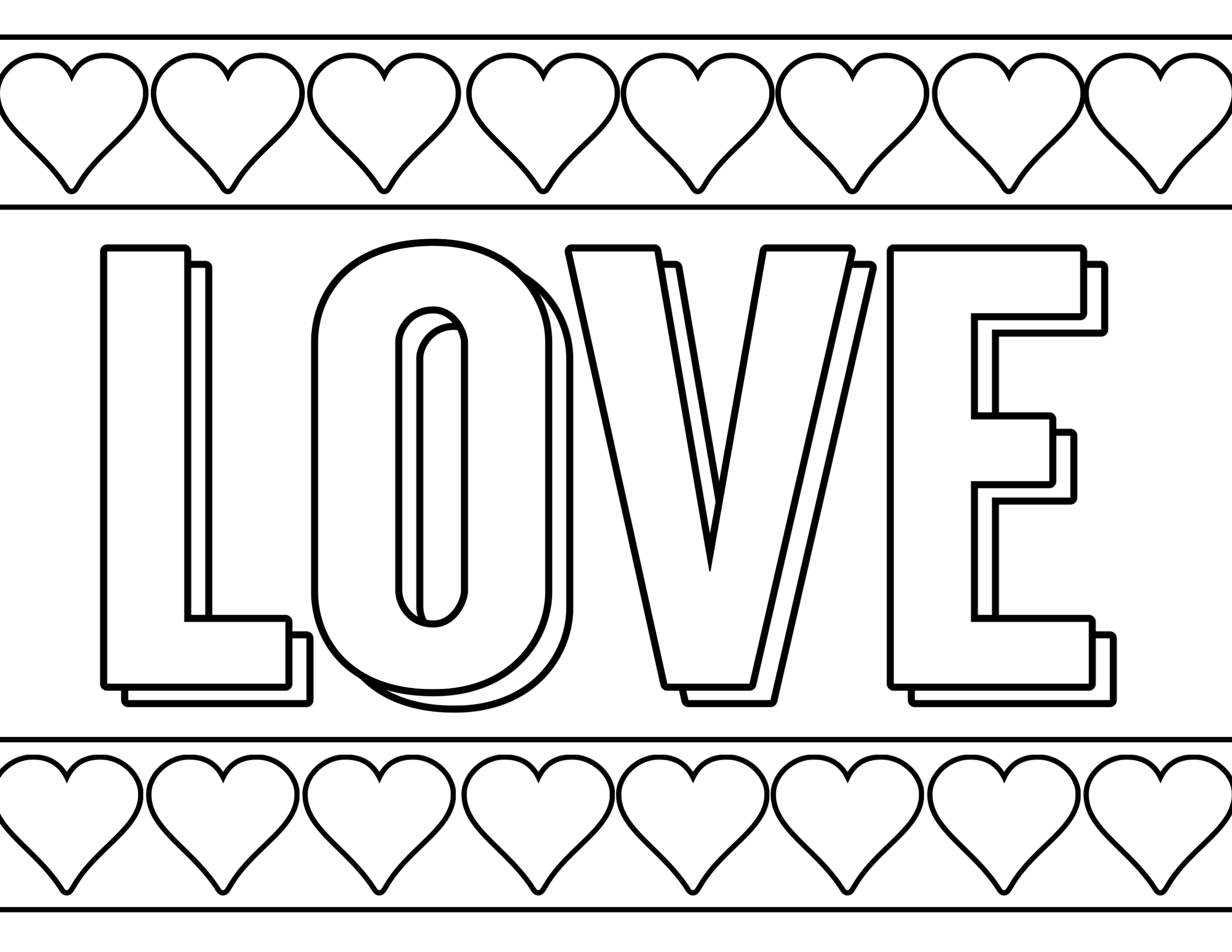 Free Printable Valentine Coloring Pages - Paper Trail Design