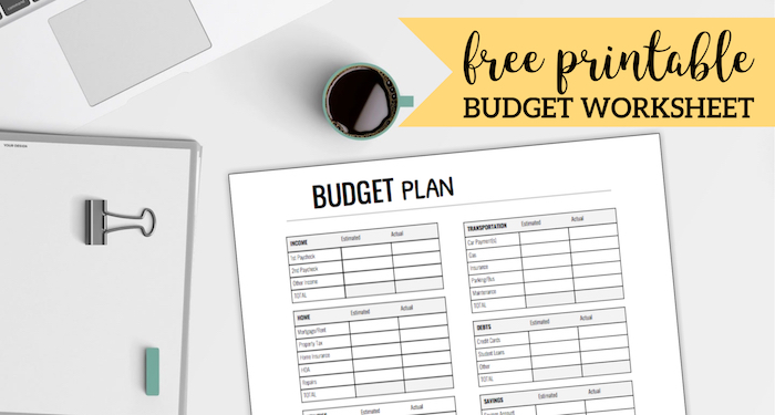 Free Printable Monthly Budget Worksheet Paper Trail Design
