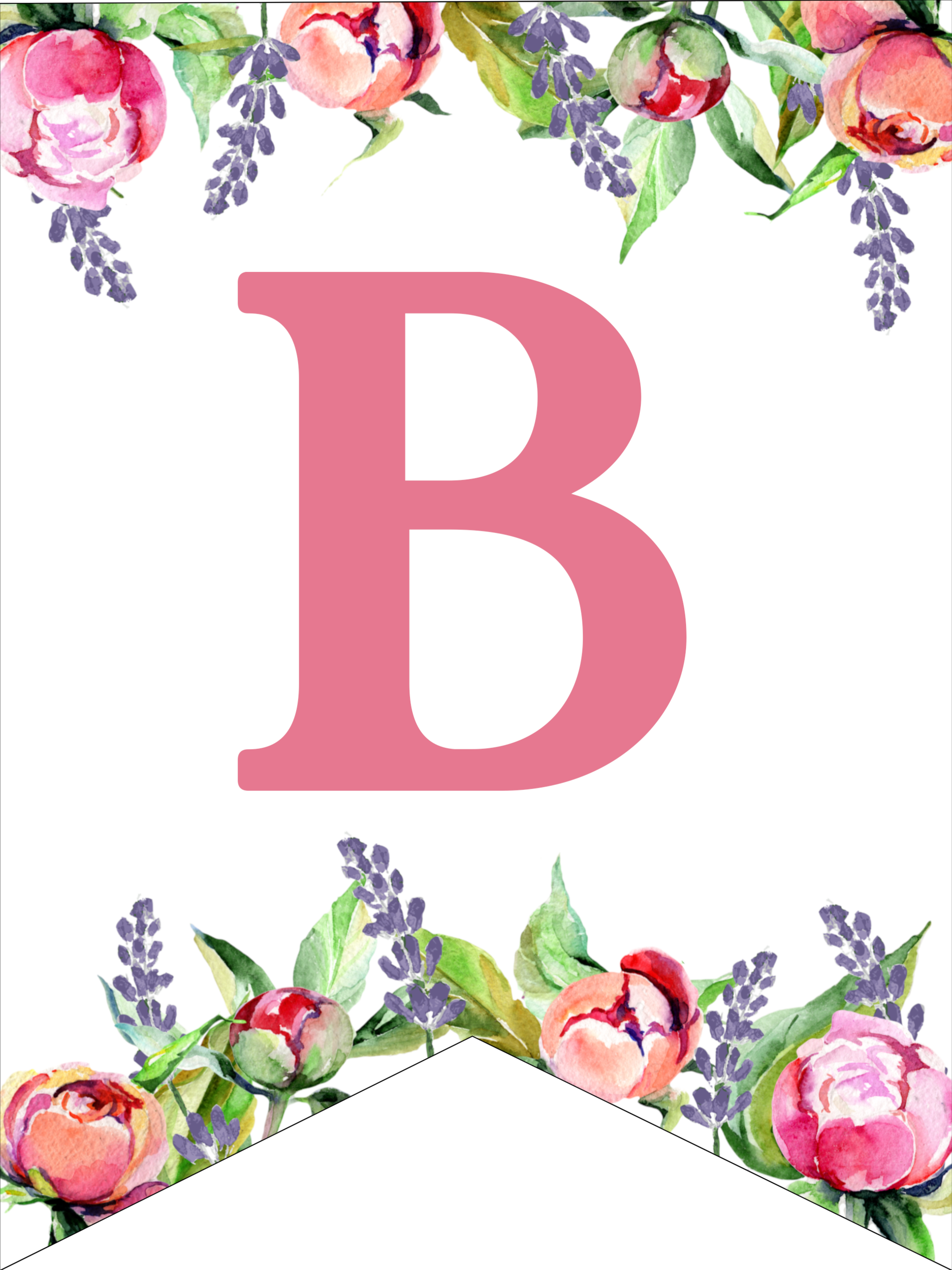 photograph about Printable Images named Floral Cost-free Printable Alphabet Letters Banner - Paper Path