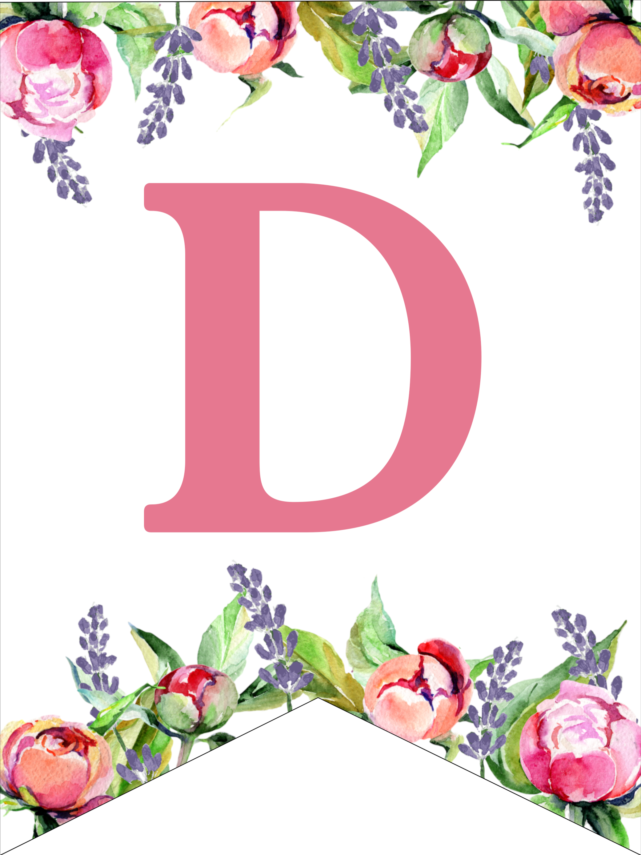 graphic regarding Floral Printable known as Floral Absolutely free Printable Alphabet Letters Banner - Paper Path