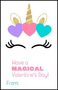 Free Printable Unicorn Valentine Card. Valentine's Day Card for kids classroom. Unicorn horn valentine to attach treats to. #papertraildesign #valentine #unicorn #unicornvalentine #printablevalentine #printablevalentines #happyvalentinesday #valentinesday #valentineexchange #valentineparty