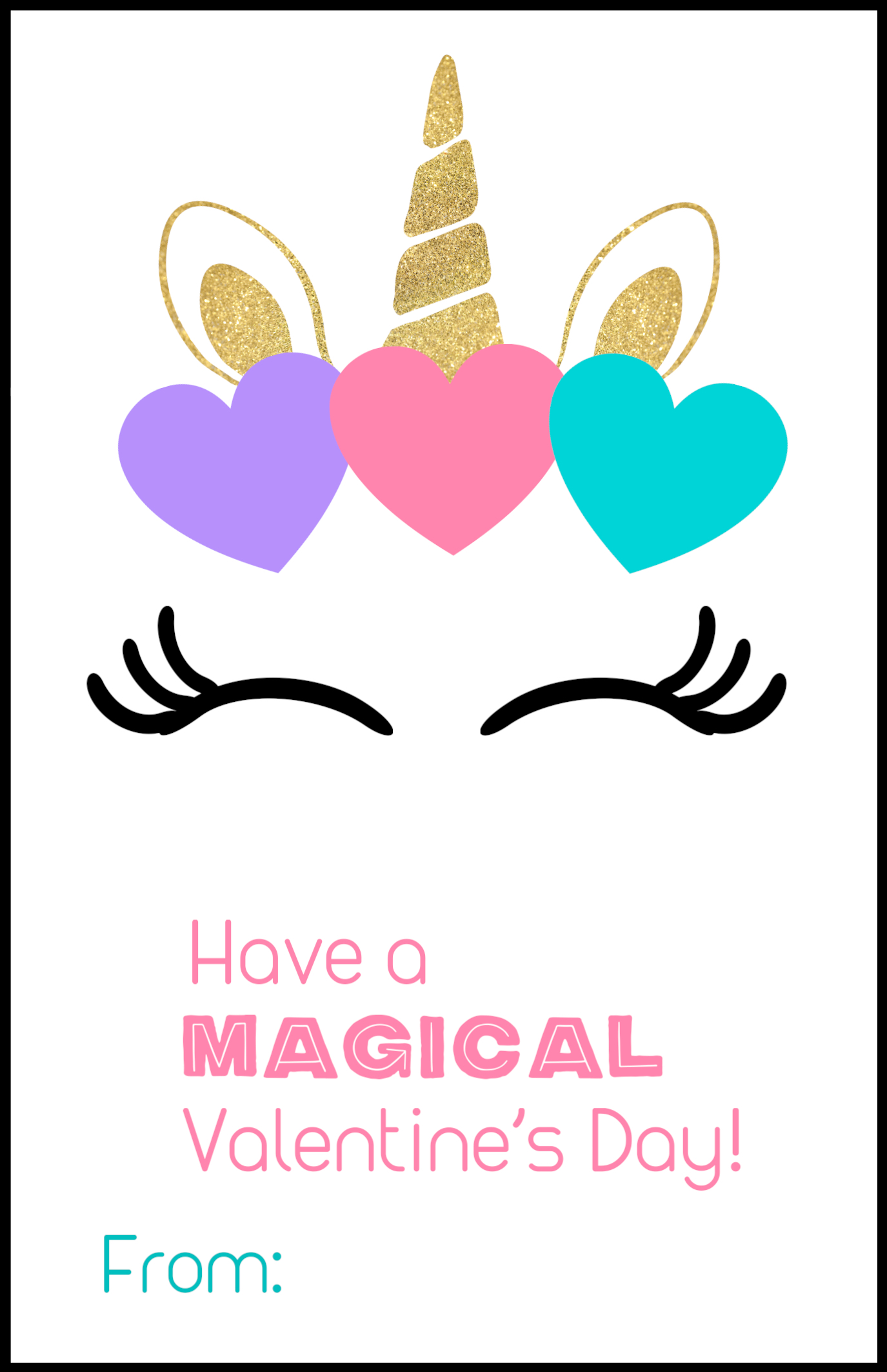 Intrepid image inside free printable unicorn valentines
