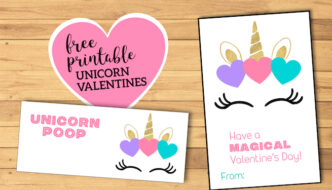 Free Printable Unicorn Valentine Card. Valentine's Day Card for kids classroom. Unicorn horn valentine to attach treats to. #papertraildesign #valentine #unicorn #unicornvalentine #printablevalentine #printablevalentines #happyvalentinesday #valentinesday #valentineexchange #valentineparty