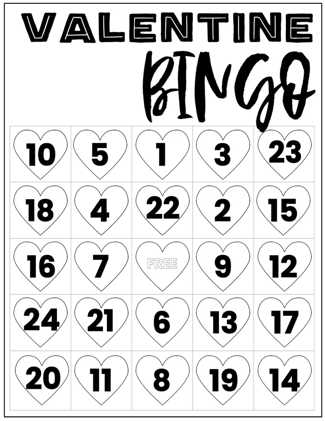 photo relating to Printable Valentine Bingo referred to as Free of charge Valentine Bingo Printable Playing cards - Paper Path Layout