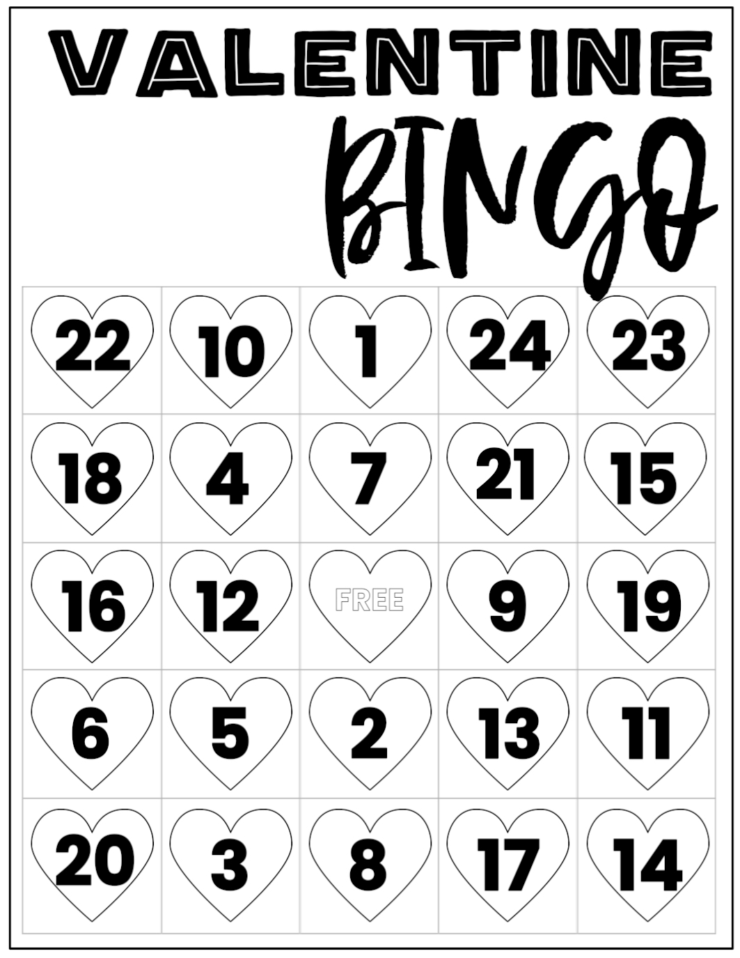 picture relating to Printable Valentine Bingo Card named No cost Valentine Bingo Printable Playing cards - Paper Path Style and design