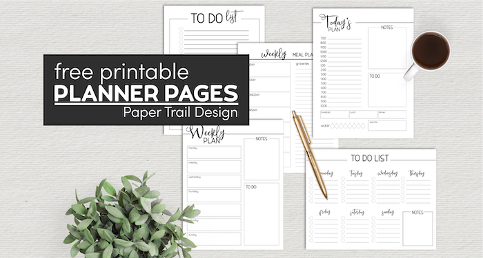 Complte set of planner pages to print for free with text overlay-free printable planner pages