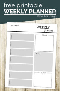 Weekly planner template with text overlay- free printable weekly planner
