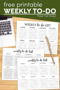 Weekly to do list printable with text overlay- free printable weekly to-do