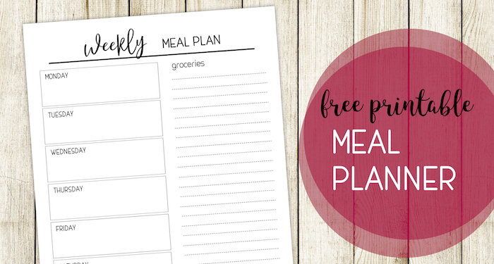 Free Printable Meal Planning Template. Weekly menu planner with grocery list to help you get organized and stay on budget. #papertraildesign #mealplan #meal #meals #mealplanning #mealplanner #free #freeprintable #printable #planyourmeals #mealplanpritnable #organize #family #familyorganization #familysurvival